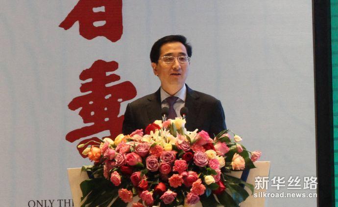 广西壮族自治区副主席张晓钦致辞(新华社 段晓芸摄)
