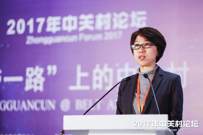 图为海淀区人民政府副区长、中关村科技园海淀园管委会主任李长萍发表致辞