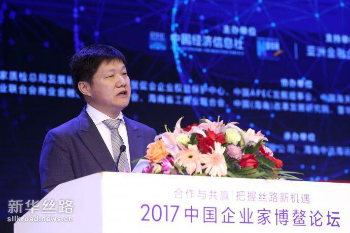 图为老挝中华总商会会长 姚宾