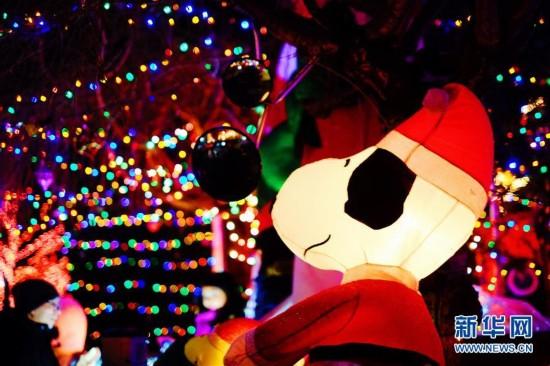 """纽约布鲁克林""""圣诞小镇""""盛装迎圣诞2"""