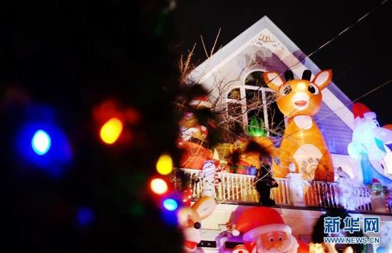 """纽约布鲁克林""""圣诞小镇""""盛装迎圣诞3"""