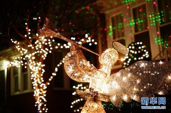 """纽约布鲁克林""""圣诞小镇""""盛装迎圣诞5"""