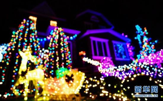 """纽约布鲁克林""""圣诞小镇""""盛装迎圣诞7"""