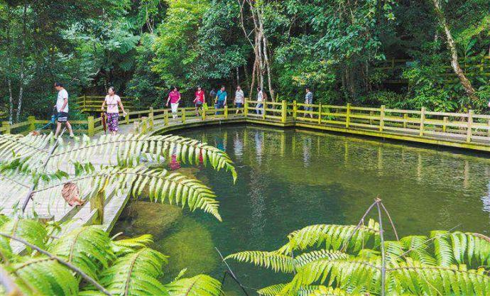 丝路旅游 丝路美景  五指山热带雨林风景区位于五指山市水满乡,一方水