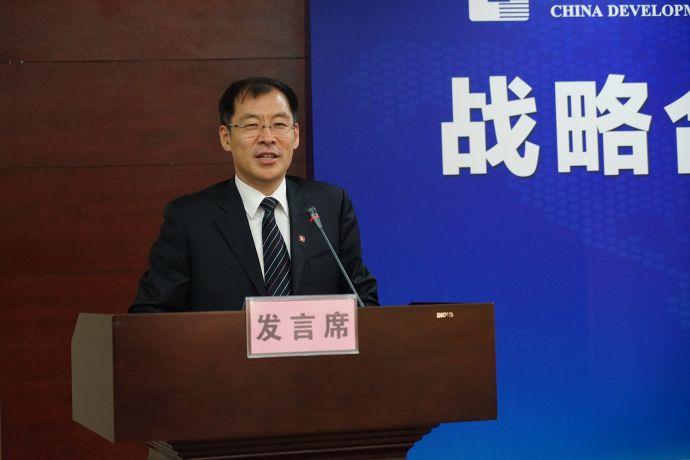 国家开发银行海南省分行行长杨爱武发言。曾文君 摄