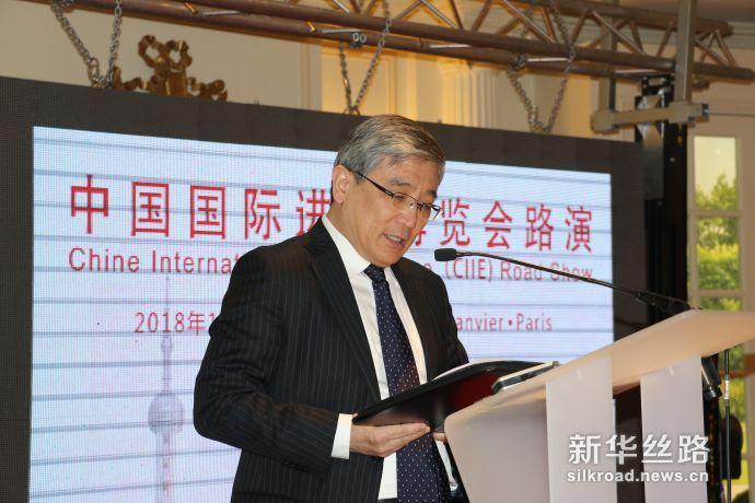 图为中国驻法国大使馆公使关键在推介会上致辞(记者徐甜 摄)