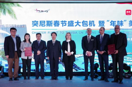 突尼斯迎来首个中国包机旅游团