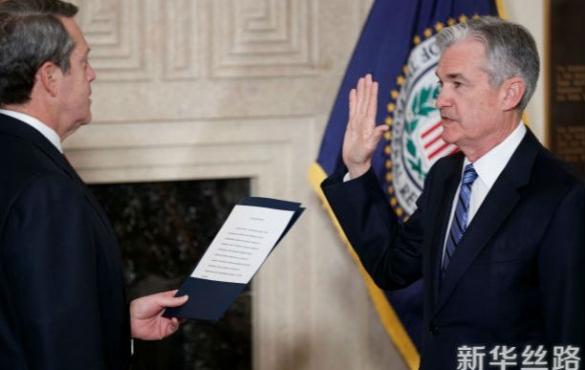 鲍威尔宣誓就任美联储新主席