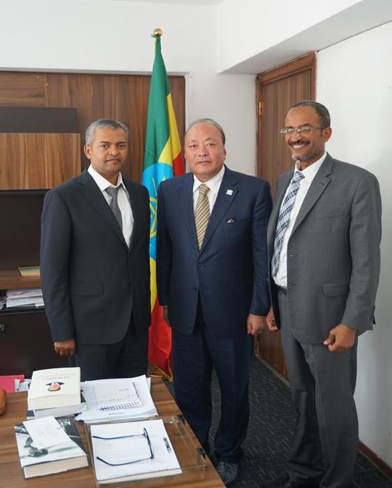 天狮集团董事长李金元拜访埃塞俄比亚新任投资局局长