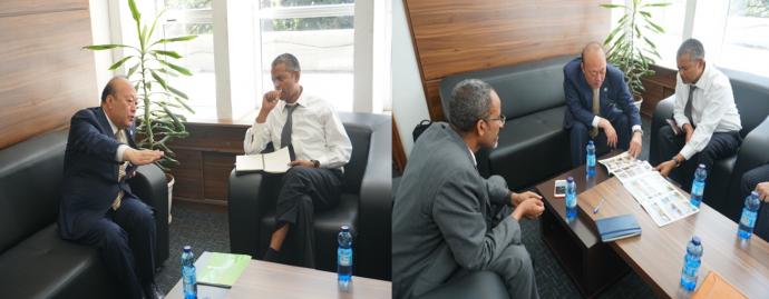 天狮集团董事长李金元拜访埃塞俄比亚新任投资局局长1