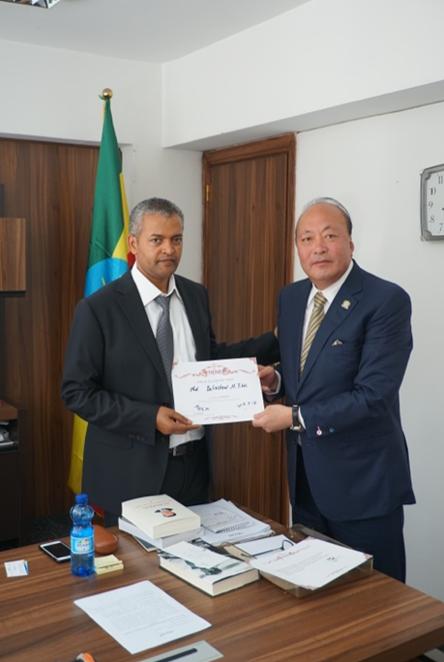 天狮集团董事长李金元拜访埃塞俄比亚新任投资局局长2