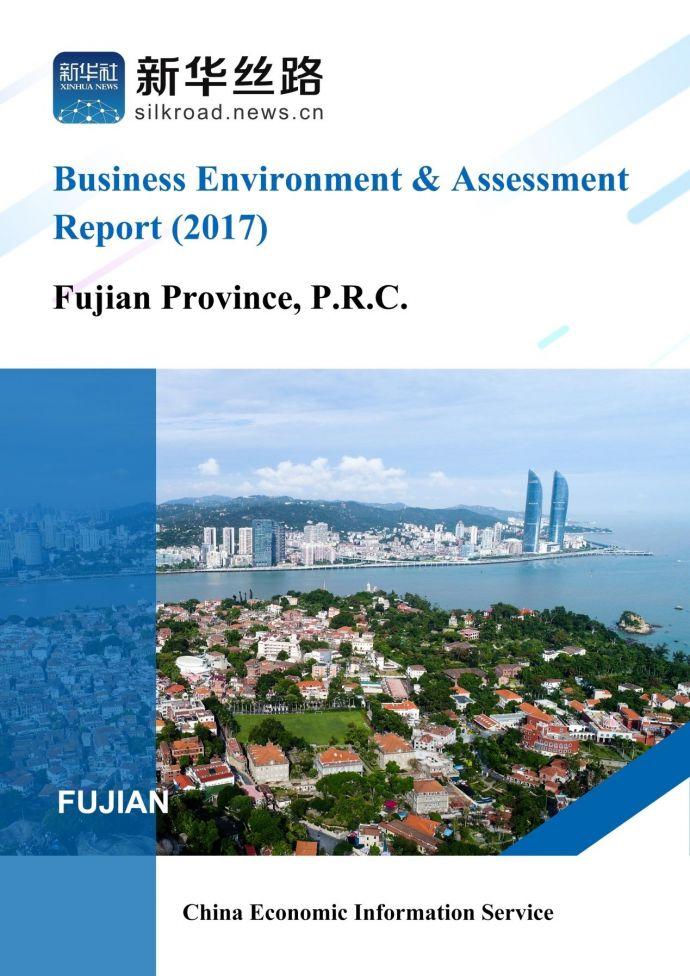 2017福建营商环境评估报告(英文版)
