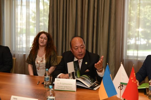 天狮集团董事长李金元拜会乌克兰敖德萨州议会副议长2