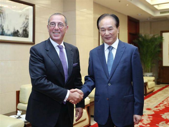 CHINA-BEIJING-XINHUA-CAI MINGZHAO-ISRAELI AMBASSADOR-MEETING (CN)