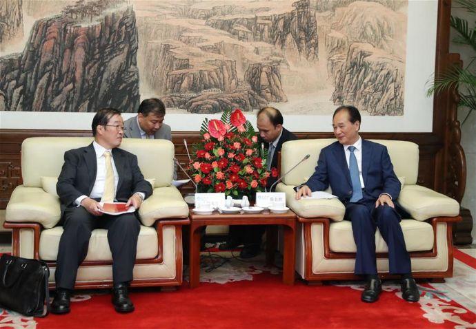 CHINA-BEIJING-XINHUA-CAI MINGZHAO-MASAO OMURO-MEETING (CN)