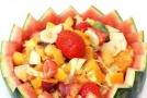 夏日美食!超大西瓜盘水果沙拉做法