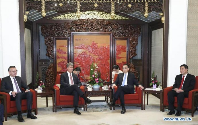 CHINA-BEIJING-LI KEQIANG-BMW-MEETING (CN)