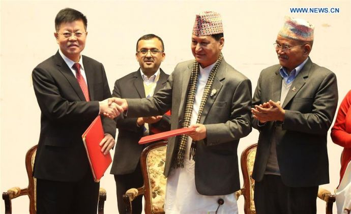NEPAL-KATHMANDU-CRCC-MONORAIL PROJECT-DPR-SIGNING CEREMONY