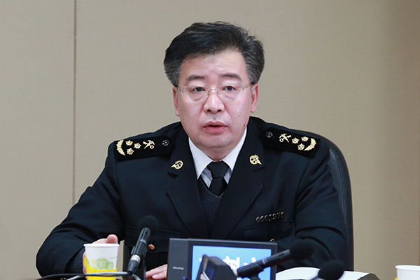 File Photo: Li Kuiwen speaks during a press conference. (Photo courtesy of )