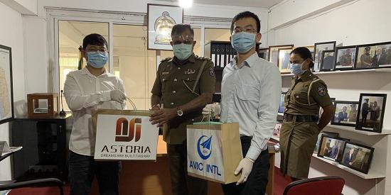 中航国际工程公司向科伦坡警察局捐赠口罩