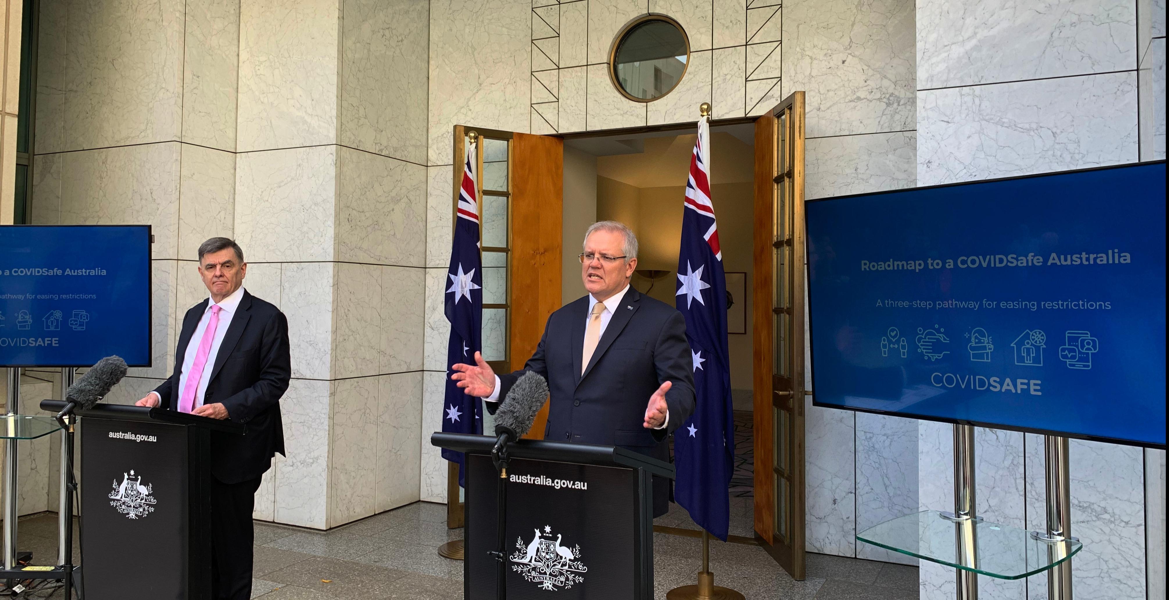 """澳总理宣布放松防控的""""路线图"""""""
