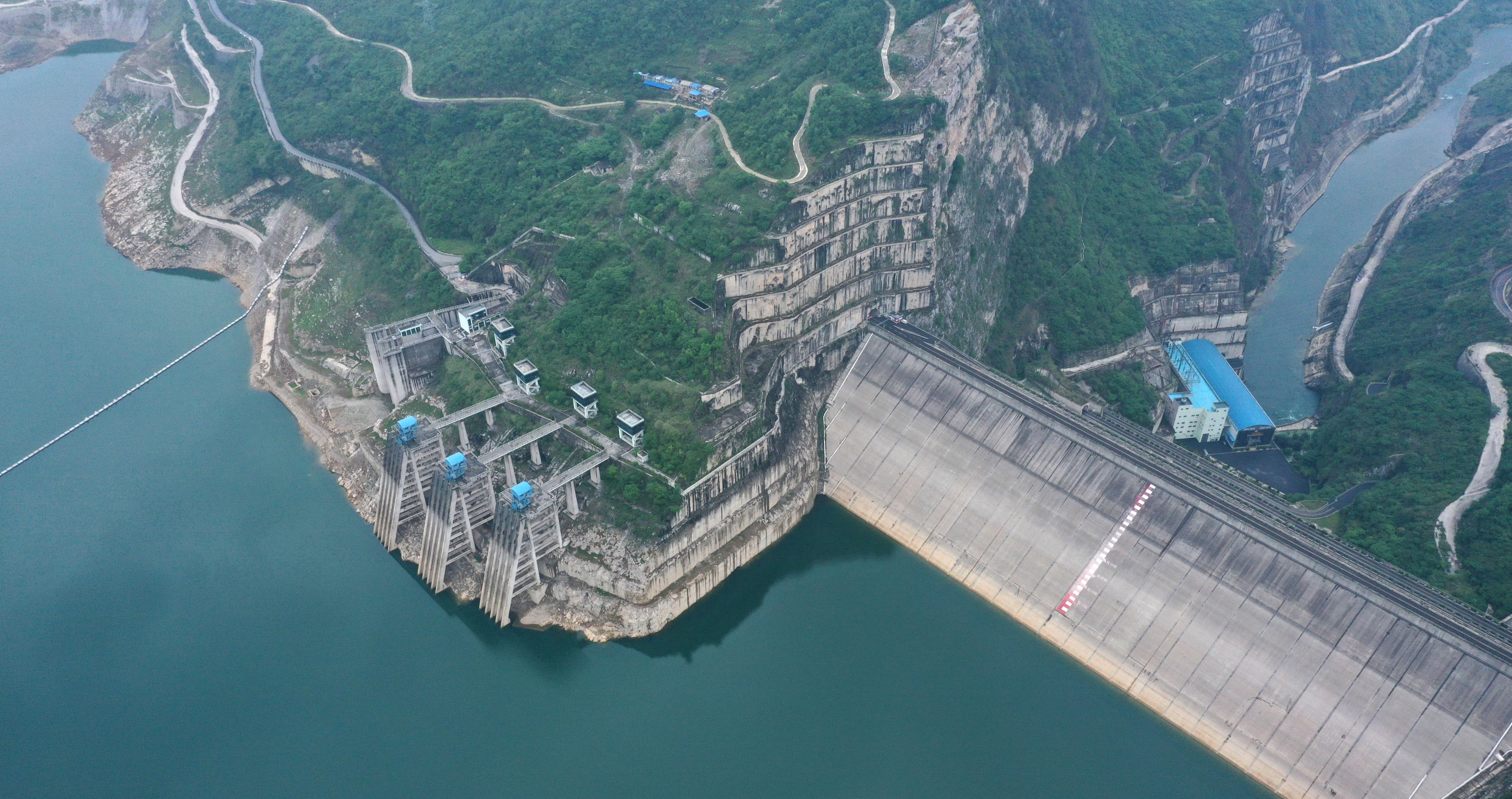 俯瞰贵州洪家渡水电站