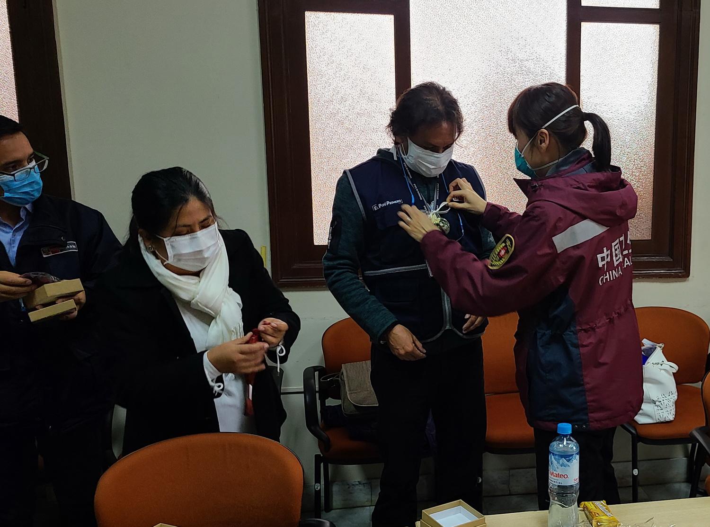 中国医疗专家组在秘鲁交流抗疫经验