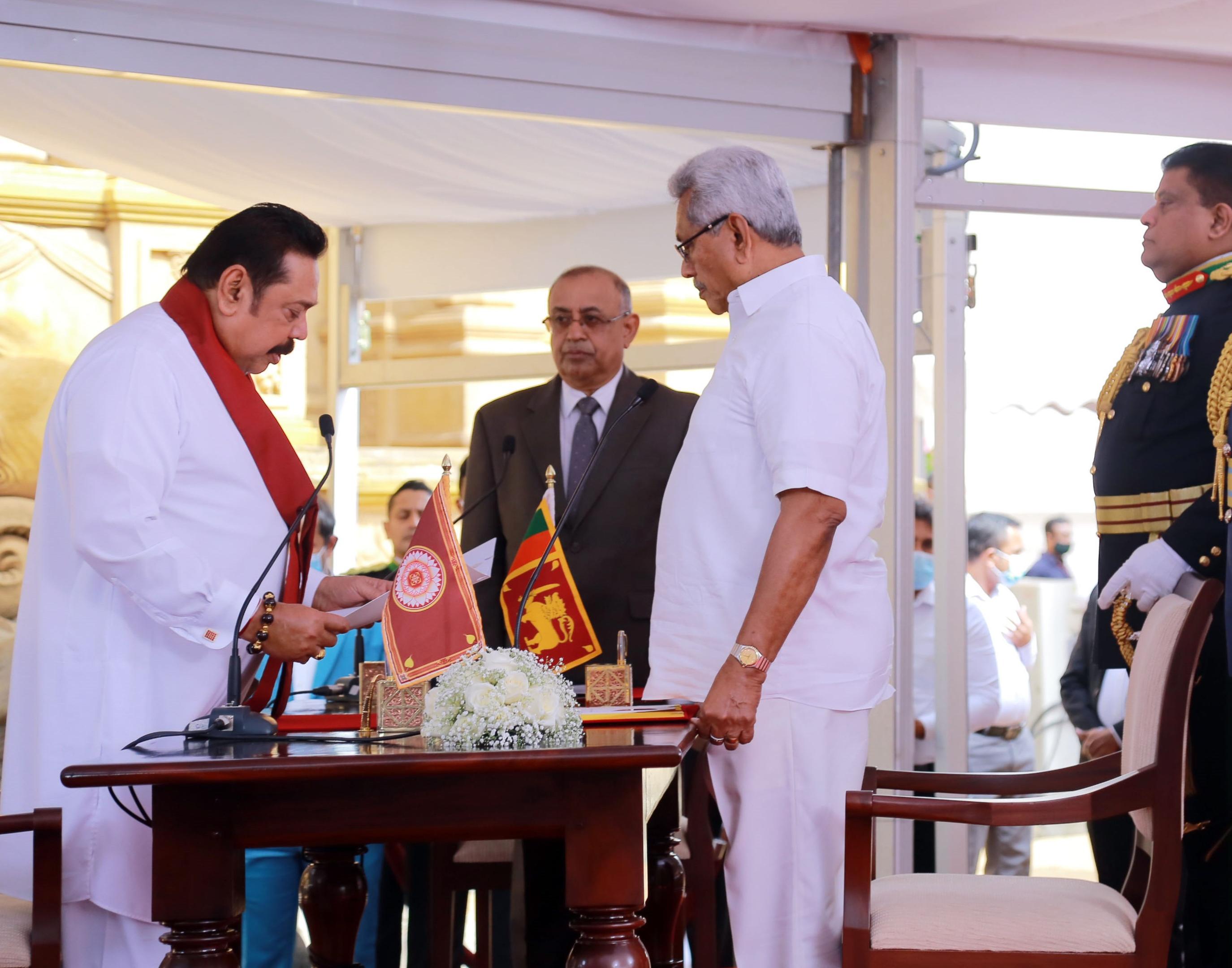 马欣达·拉贾帕克萨宣誓就任斯里兰卡新政府总理