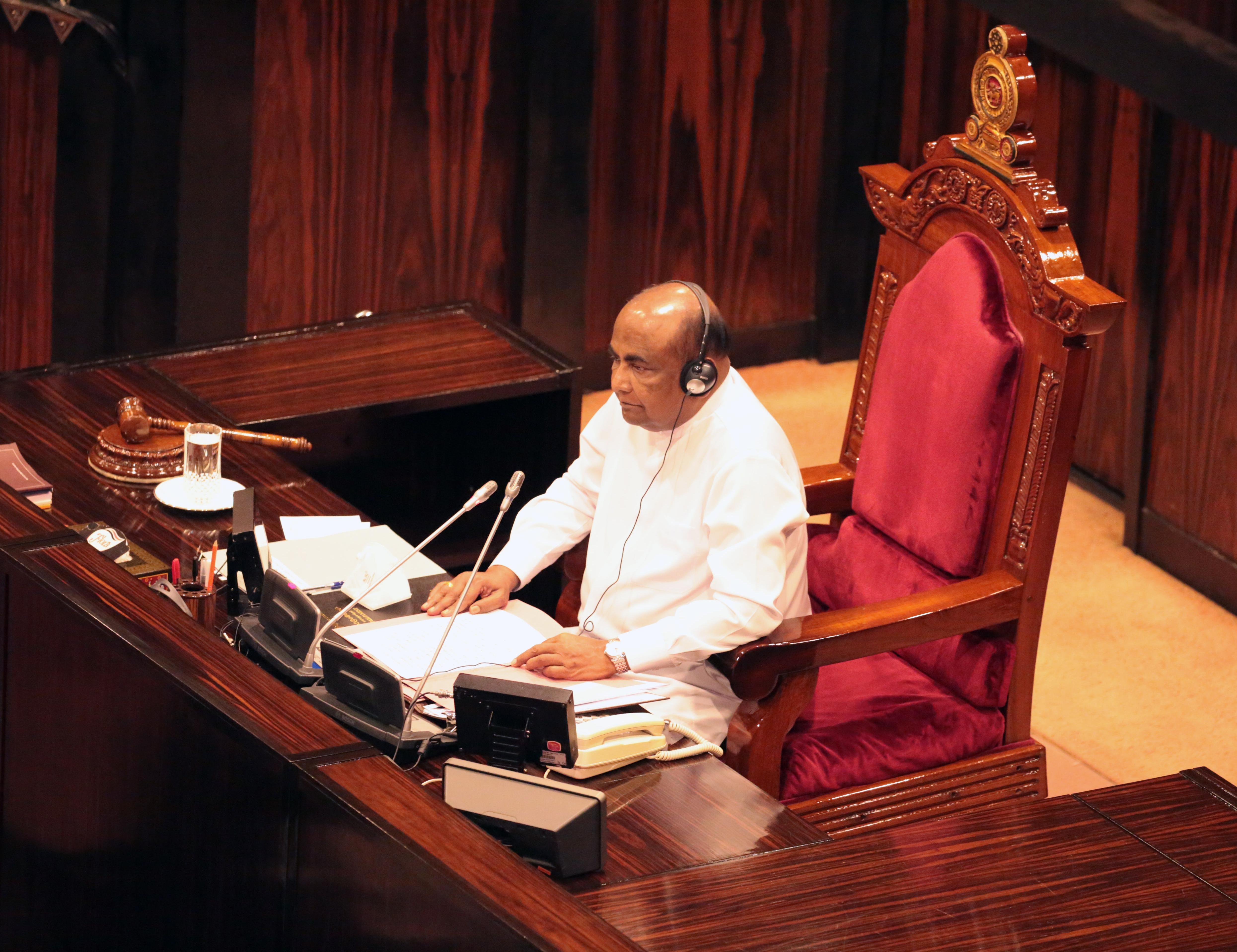 阿贝瓦德纳当选斯里兰卡议会议长