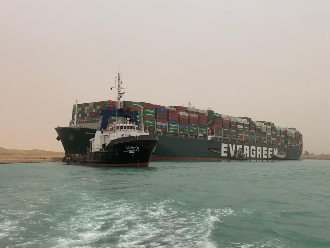 苏伊士运河搁浅船只部分靠岸 业内人士:运河管理局对此类事故有预案