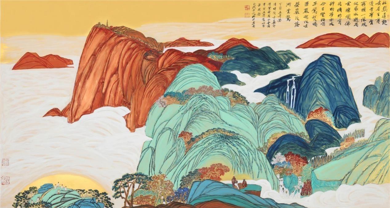 刘正成书画展在京落幕 金碧山水充满时代精神