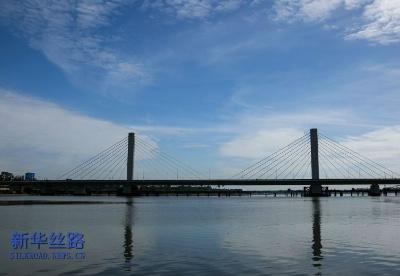 中企承建东非最大斜拉式跨海大桥通车