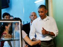奥巴马溜到越南平民食店吃米粉 称赞味道好