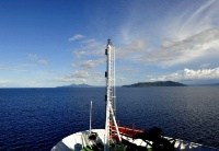 """""""张謇""""号驶入巴布亚新几内亚的俾斯麦海"""