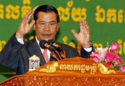 柬埔寨总理洪森打响选举争夺战