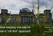 """德国总理密切关注""""英国优先""""方案"""