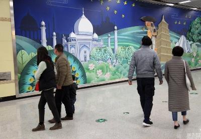 西安地铁壁画闹乌龙:唐僧穿越去泰姬陵取经
