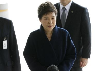 朴槿惠接受韩国检方传唤