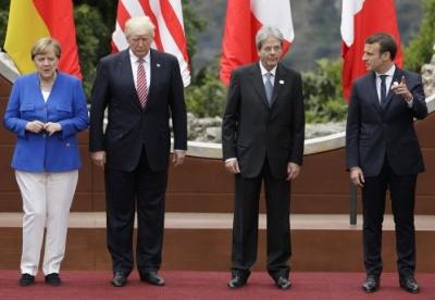 """G7峰会:美欧分歧显露  特朗普坚持""""美国优先"""""""