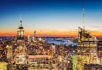 纽约帝国大厦首次为中秋节亮灯