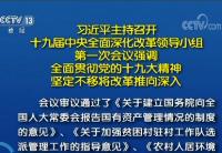 习近平主持召开十九届中央全面深化改革领导小组第一次会议