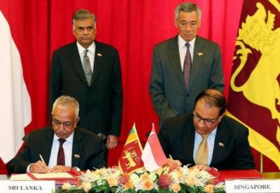 斯里兰卡和新加坡签署自由贸易协定