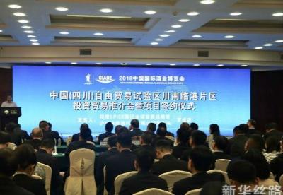 四川自贸区川南临港片区投资贸易推介会上达成签约项目40个