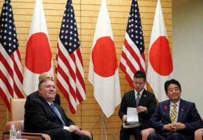 安倍与蓬佩奥同意就朝鲜问题紧密合作