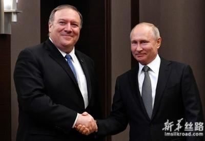 普京会见蓬佩奥 双方表示希望恢复俄美关系