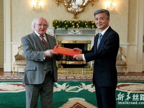 爱尔兰总统说愿与中方共同推动双边关系不断向前