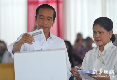印尼现任总统佐科赢得2019年总统选举