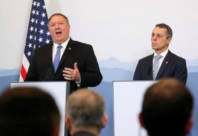 """蓬佩奥称美国愿与伊朗举行""""不预设条件""""的会谈"""