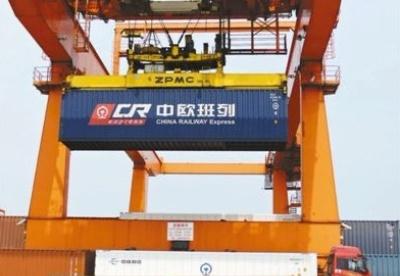 图片报道:中国借助陆港开通中欧班列的城市逾六十个