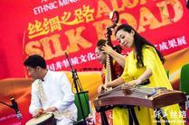 """""""丝绸之路中国非物质文化遗产和民族地区扶贫成果展""""亮相联合国维也纳办事处"""
